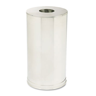 European Metallic Drop-In Top Receptacle, Round - 15 Gallon