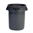 Rubbermaid [2632] BRUTE® Round Trash Can - Gray - 32 Gallon