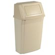 Rubbermaid [7822] Slim Jim® Wall Mounted Garbage Container - 15 Gallon - Beige