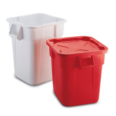 Square Trash Cans by Rubbermaid Commercial