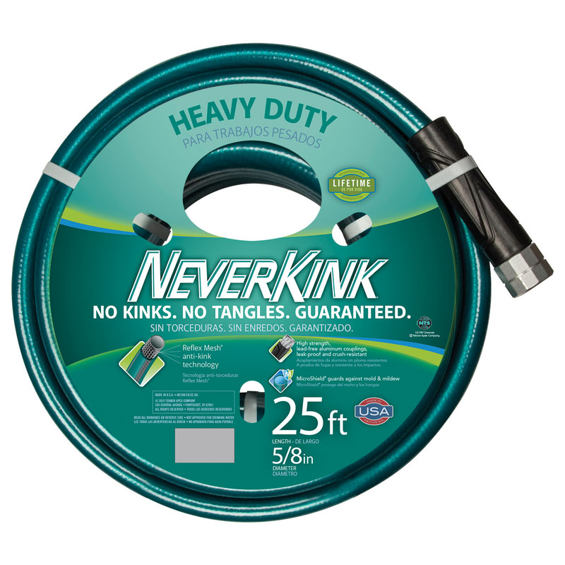 25 Ft Neverkink Heavy Duty Garden Hose 5 8 In Dia