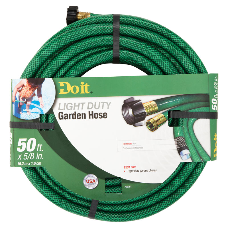 5 8 Dia X 50 Ft Vinyl Light Duty Garden Hose Unoclean