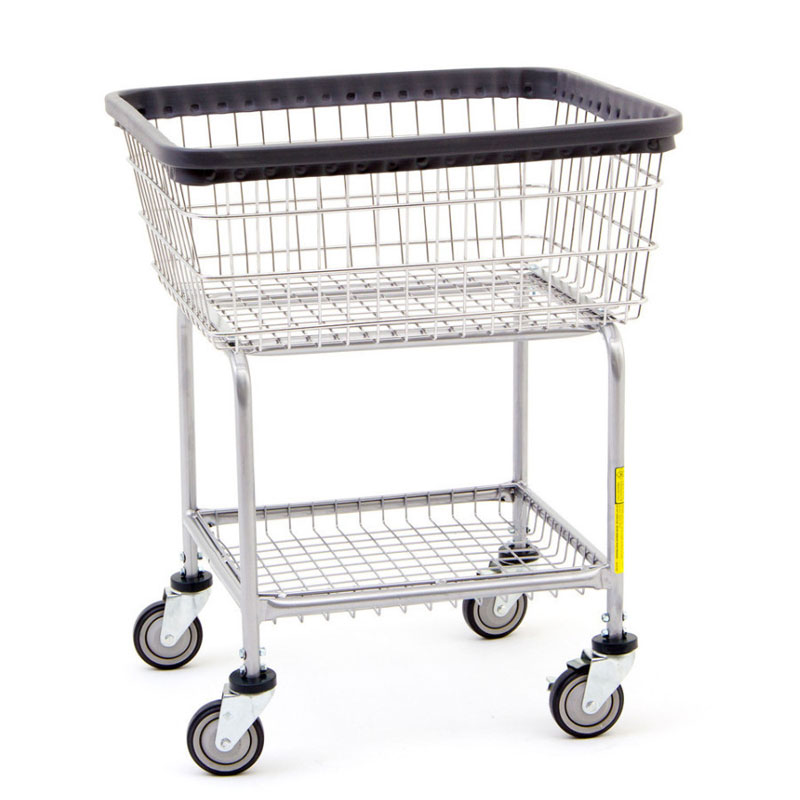 Wire Frame Car Wash Towel Cart - 2 1/2 Bushel Capacity - UnoClean