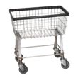 Commercial Economy Size Metal Laundry Carts, Linen Carts, Light-Duty Wire Metal Frame Elevated Laundry Carts - Laundry, Healthcare & Hospitality Logistics