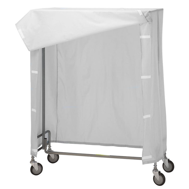 R&B Wire Garment Rack Nylon Cover & Frame - White