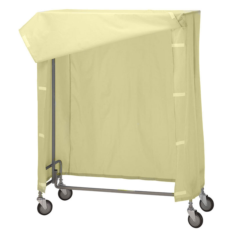 R&B Wire Garment Rack Nylon Cover & Frame - Yellow