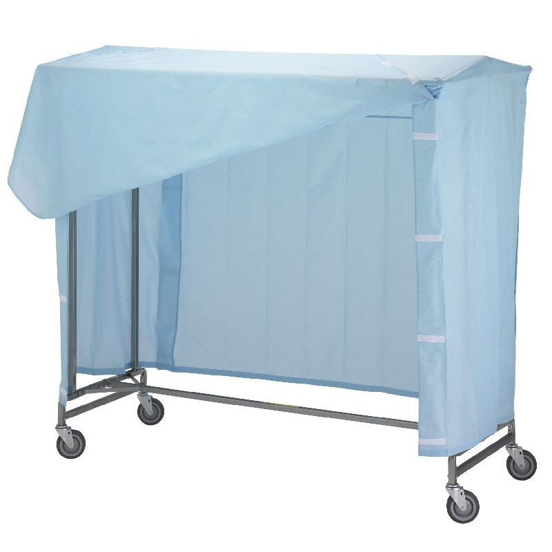 R&B Wire Portable Garment Rack Nylon Cover & Frame - Blue