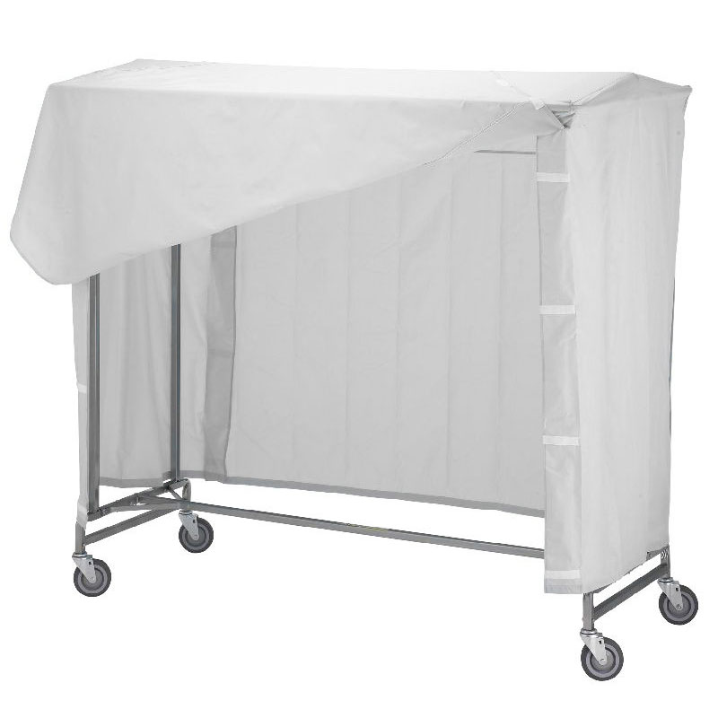 R&B Wire 752 Portable Garment Rack Nylon Cover & Frame - White