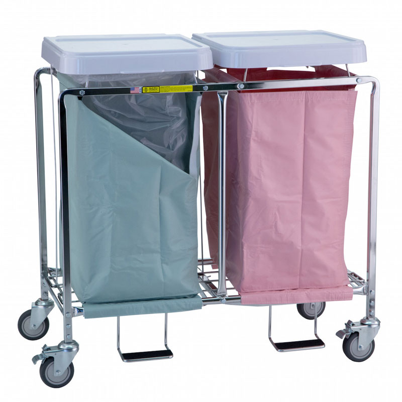 R&B Wire Double Easy Access Deluxe Metal Laundry Hamper