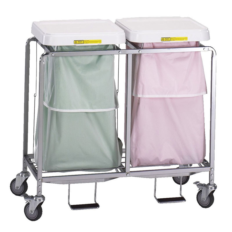R&B Wire Double Leakproof Deluxe Metal Laundry Hamper
