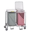 "R&B Wire [674] Double ""Easy Access"" Deluxe Metal Laundry Hamper w/ Foot Pedal RB-674"