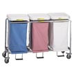 "R&B Wire [676] Triple ""Easy Access"" Deluxe Metal Laundry Hamper w/ Foot Pedal RB-676"