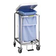 R&B Wire [682] Single Leakproof Deluxe Metal Laundry Hamper w/ Foot Pedal RB-682