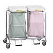 R&B Wire [684] Double Leakproof Deluxe Metal Laundry Hamper w/ Foot Pedal RB-684