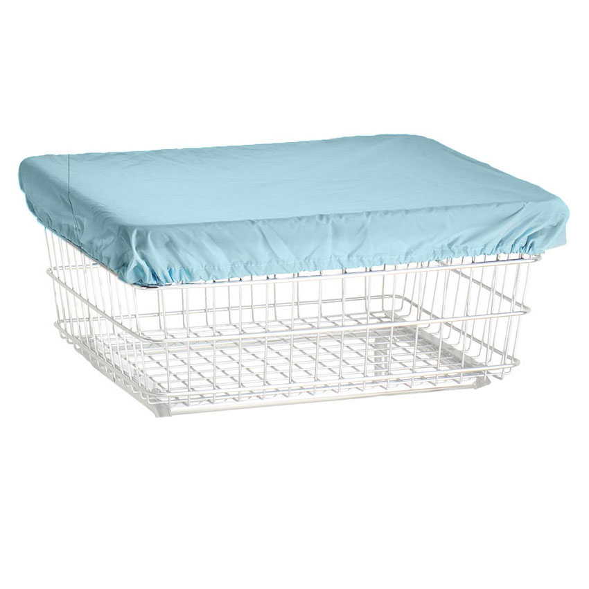 R&B Wire Metal Wire Laundry Cart Blue Nylon Cover Cap