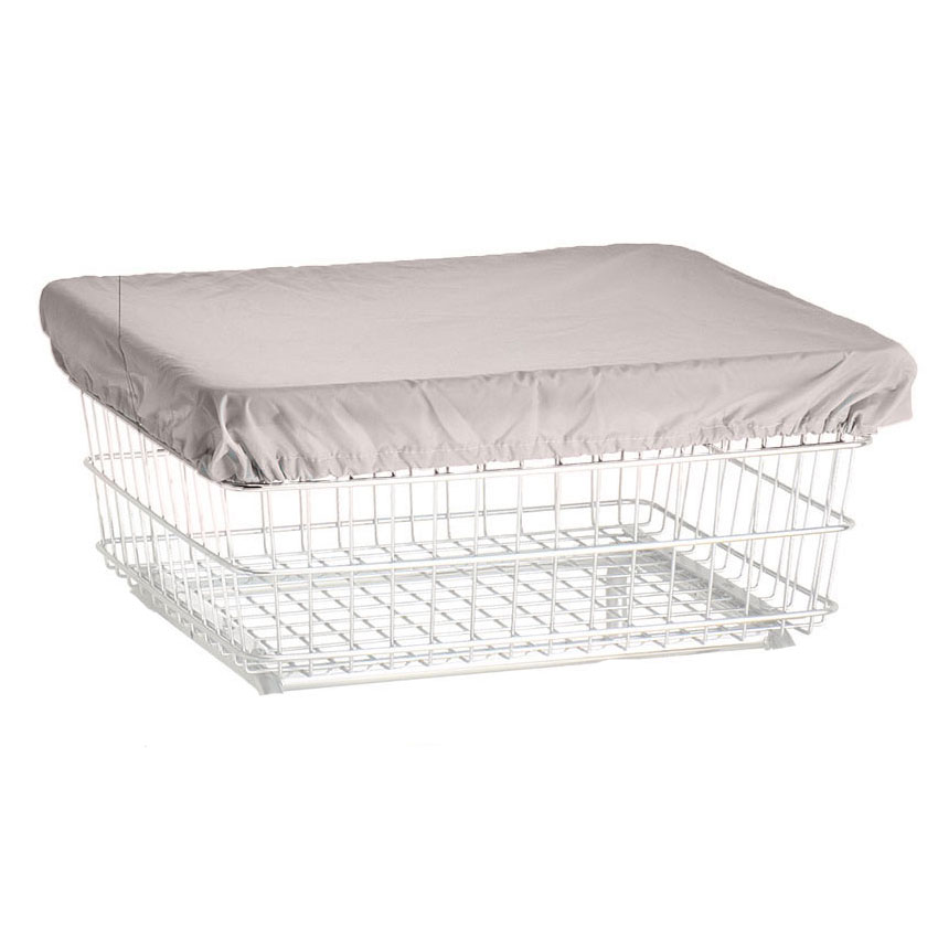R&B Wire Wire Frame Laundry Cart Antimicrobial Cover Cap - White