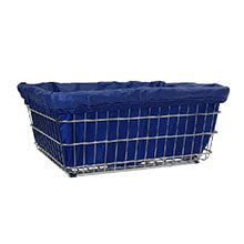 Dark Blue Nylon Laundry Cart Liner - D, E & G Baskets