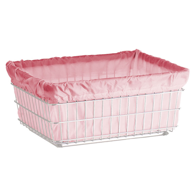 R&B Wire Metal Laundry Cart Nylon Basket Liner - Mauve