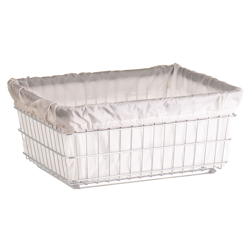 R&B Wire Metal Laundry Cart Nylon Basket Liner - White