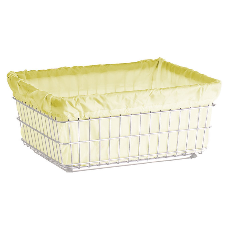 R&B Wire Laundry Cart Nylon Basket Liner - Yellow