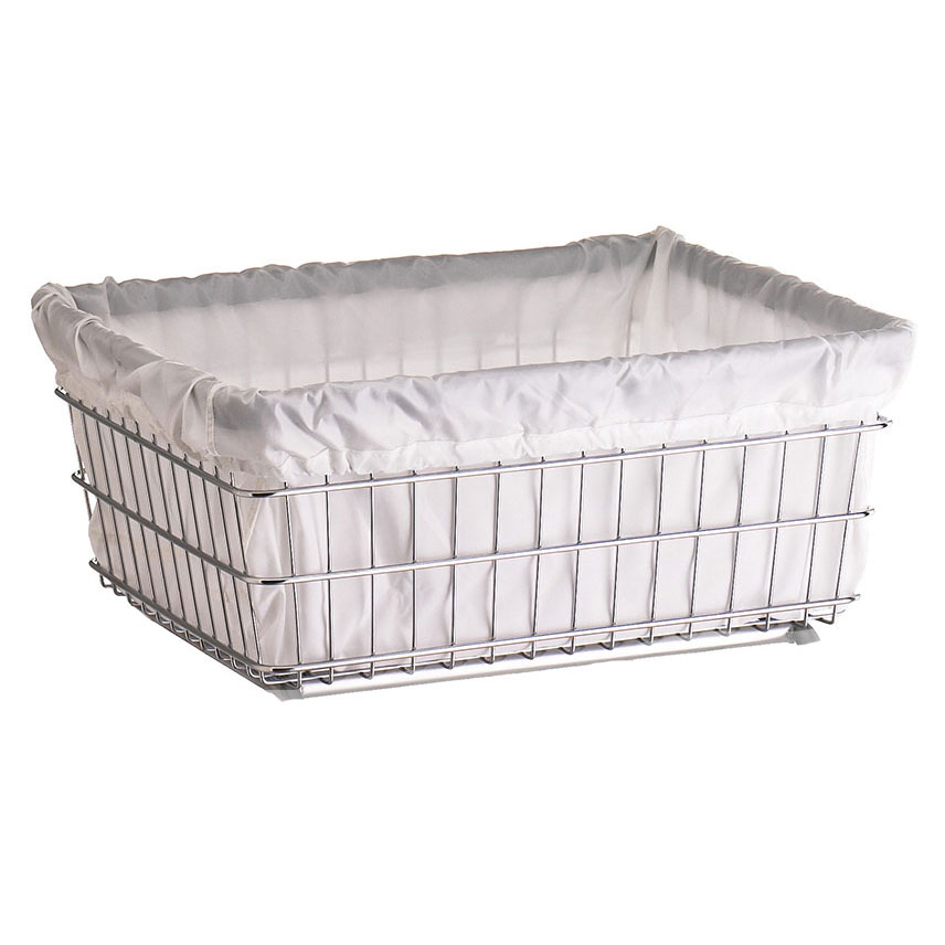 R&B Wire Laundry Cart Antimicrobial Basket Liner - White