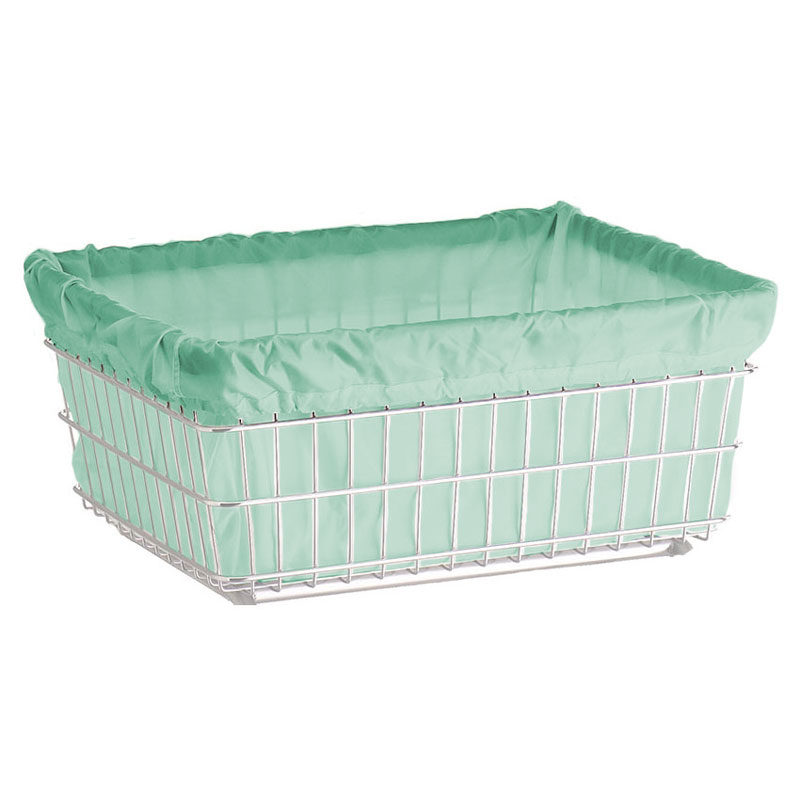 R&B Wire Laundry Cart Antimicrobial Basket Liner - Green