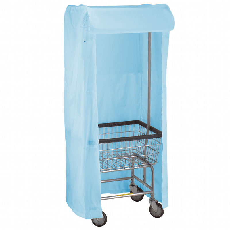 R&B Wire Metal Laundry Cart Rack Frame & Nylon Cover - Blue