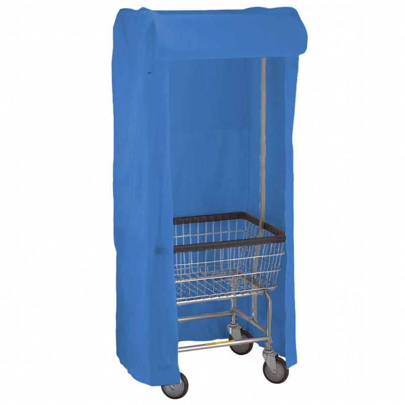 100E58 Dark Blue Support Frame Laundry Cart Cover