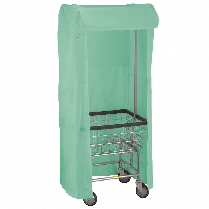 100E58 Gray Green Support Frame Laundry Cart Cover