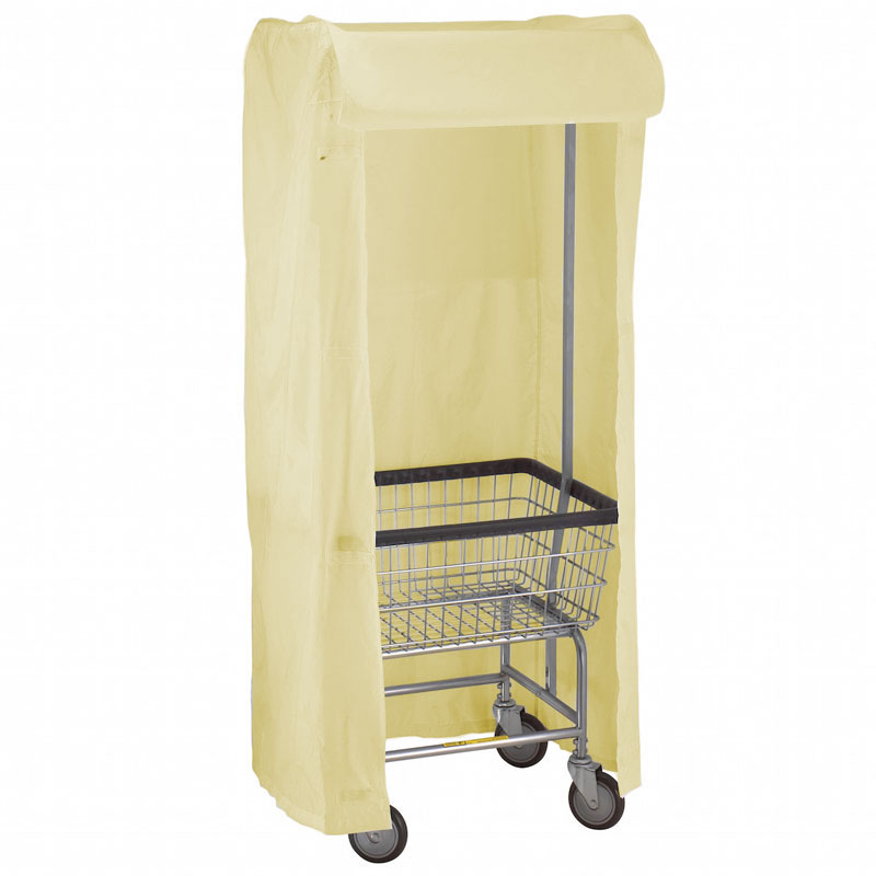 R&B Wire [151] Wire Frame Metal Laundry Cart Rack Frame & Nylon Cover - Yellow