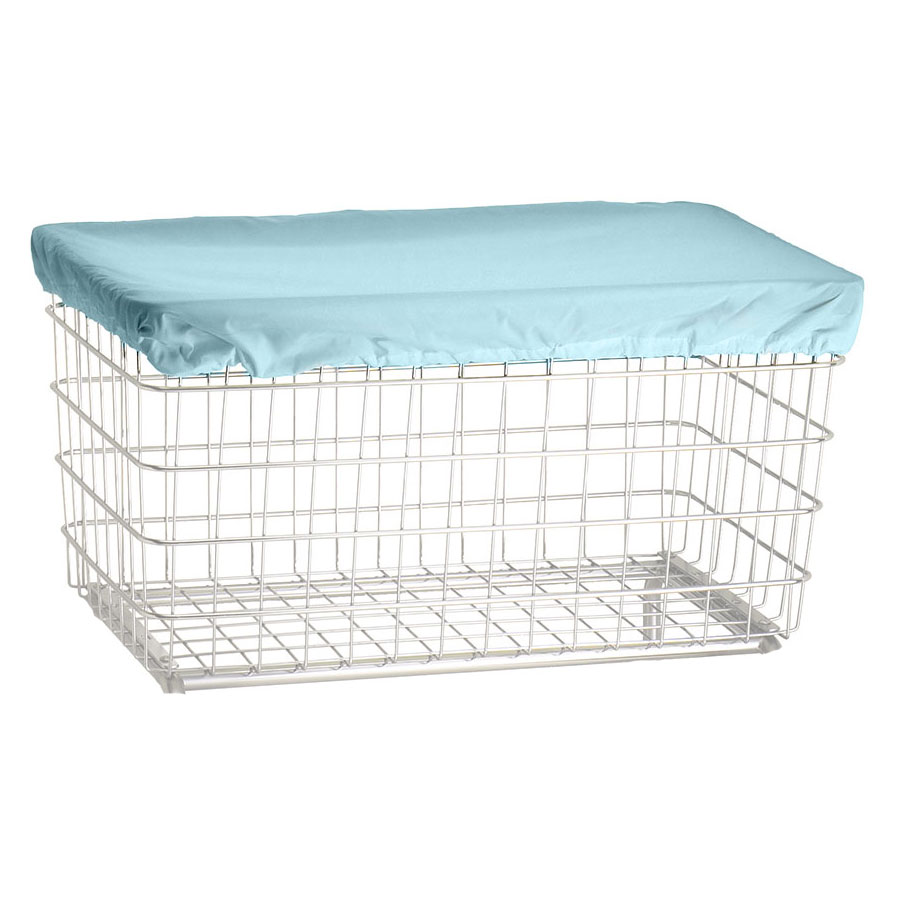 R&B Wire F Basket Laundry Cart Nylon Cover Cap - Blue