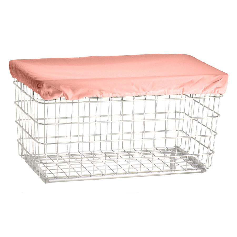 R&B Wire Laundry Cart Nylon Cover Cap - Mauve