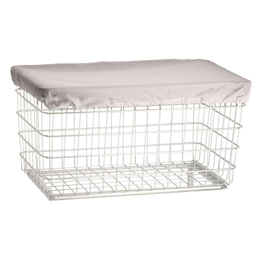 R&B Wire F Basket Laundry Cart Nylon Cover Cap - White