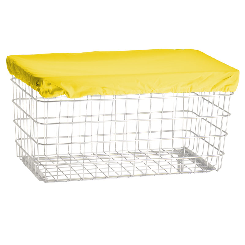R&B Wire F Basket Laundry Cart Nylon Cover Cap - Bright Yellow