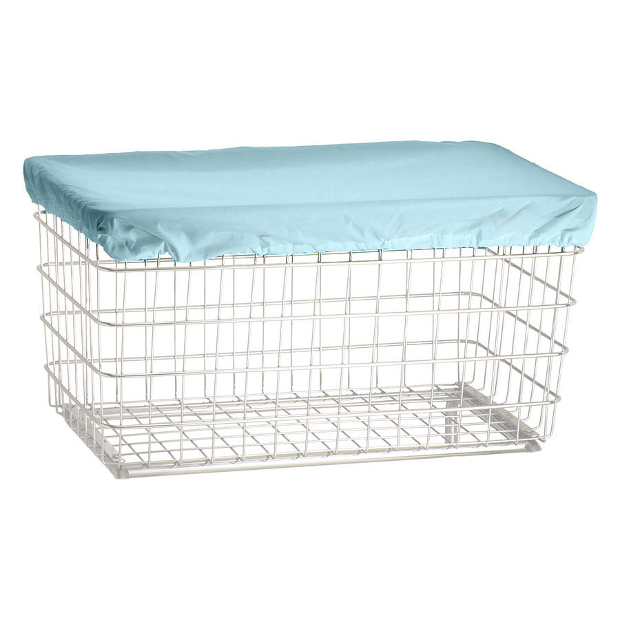 R&B Wire Laundry Cart Antimicrobial Cover Cap - F Baskets - Blue