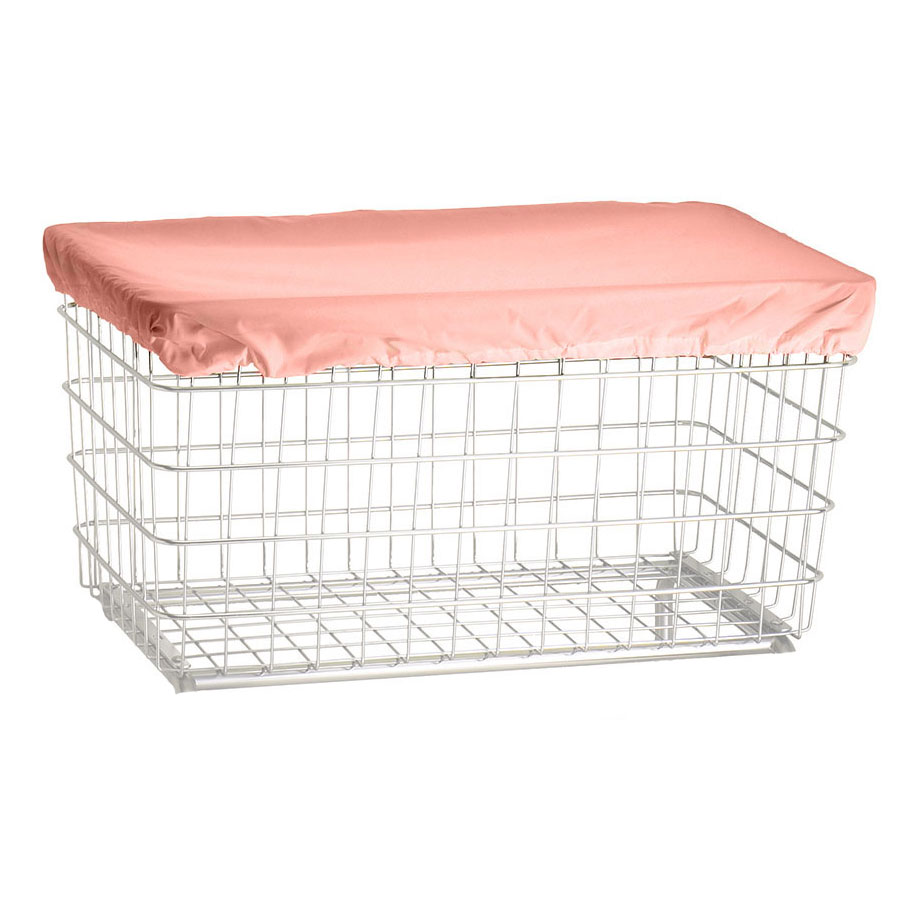 R&B Wire Laundry Cart Antimicrobial Cover Cap - Mauve