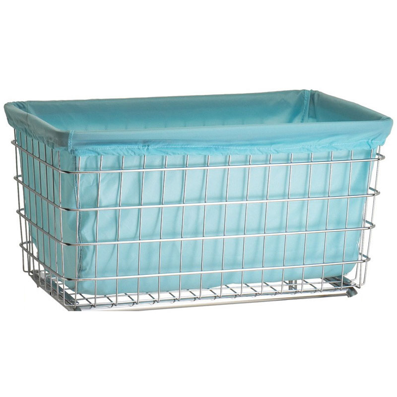 R&B Wire Metal Laundry Cart Nylon F Basket Liner - Blue