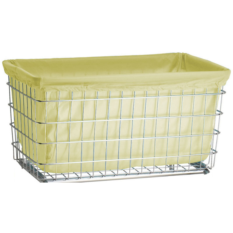 R&B Wire Laundry Cart Nylon Basket Liner - F Baskets - Yellow