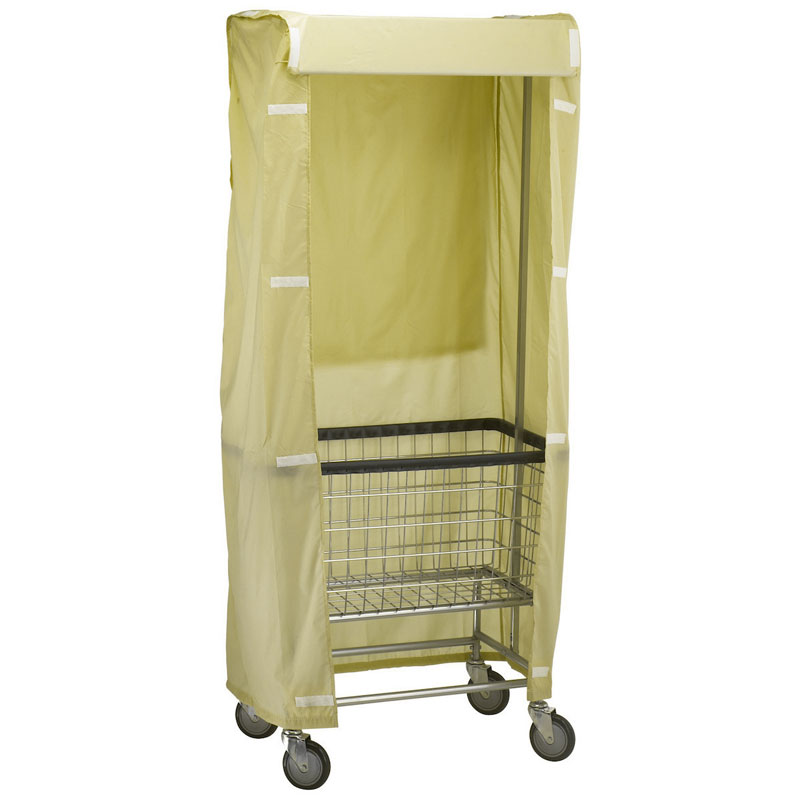 R&B Wire [251] Wire Frame Metal Laundry Cart Rack Frame & Nylon Cover - Yellow