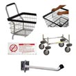 Commercial Metal Laundry Cart Accessories, Signage, Dividers, Extenders, Bumper Kits - Laundry, Healthcare & Hospitality Logistics