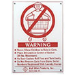 R&B Wire Wall Mounted Warning Sign - English