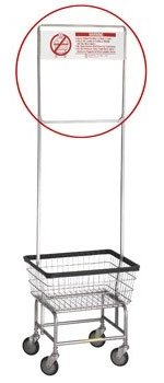R&B Wire Metal Laundry Cart One Piece Rack Extender w/ Sign
