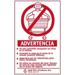 R&B Wire [903S] Wall Mounted Warning Sign - Spanish