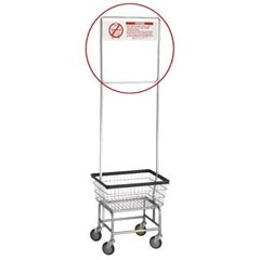 R&B Wire [908] Metal Laundry Cart One Piece Rack Extender w/ Sign