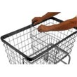 R&B Wire [F/DIVIDER] Metal Laundry Cart Adjustable & Removable Divider - Chrome