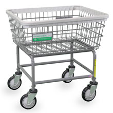 Antimicrobial Wire Frame Laundry Cart - 2.5 Bushel