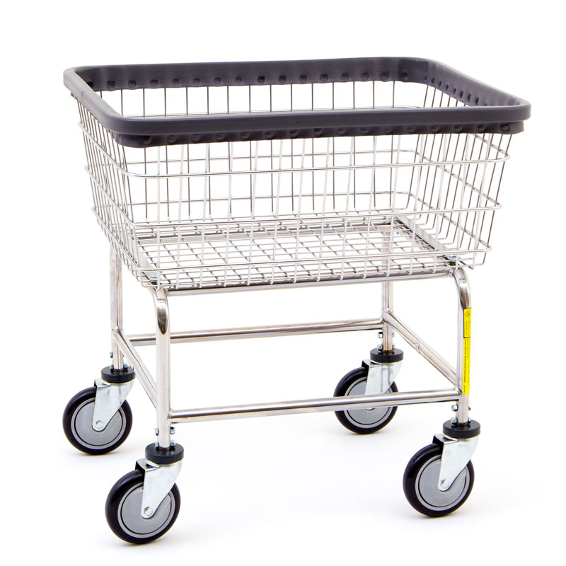 R&B Wire 100E Standard Wire Frame Metal Laundry Cart