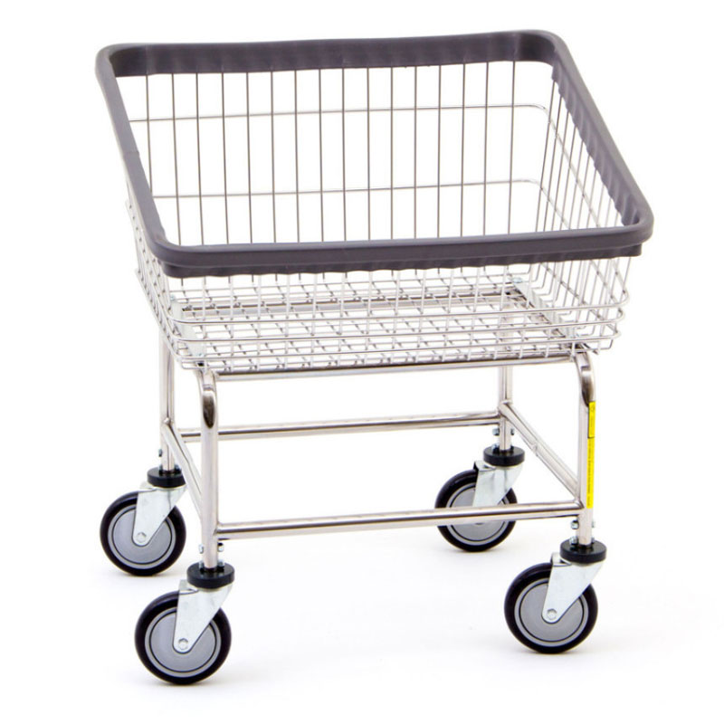 R&B Wire 100T Front Load Wire Frame Metal Laundry Cart