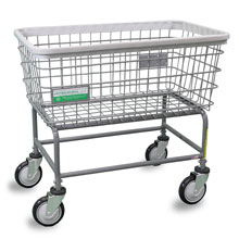Antimicrobial Large Capacity Laundry Cart - 4.5 Bushel