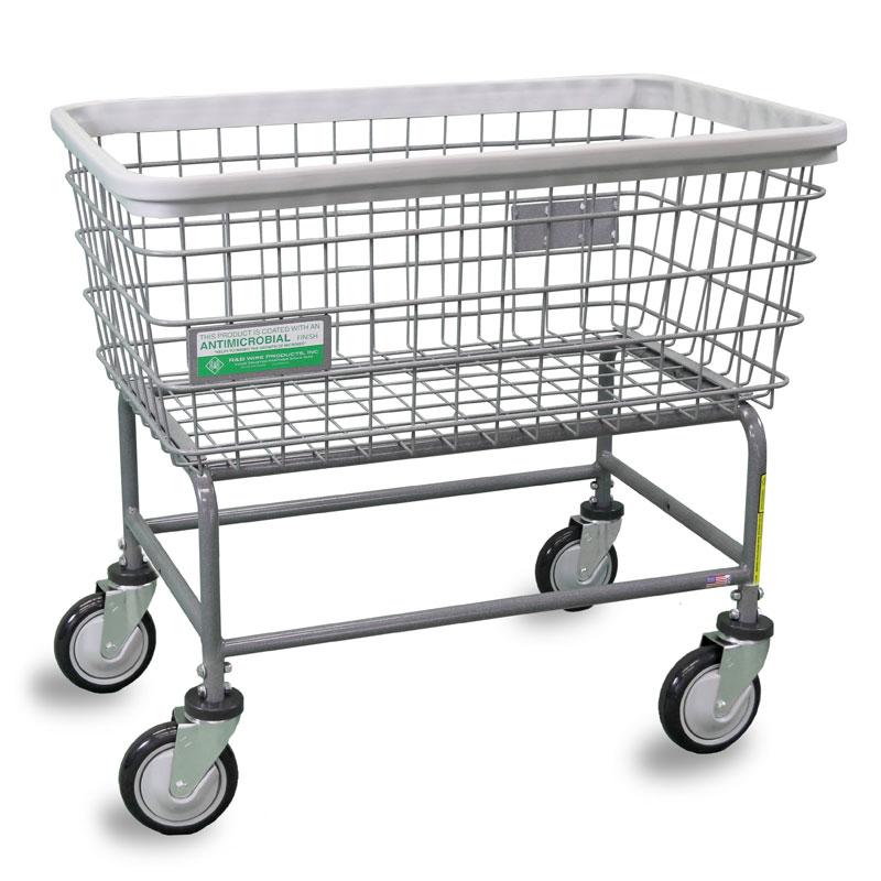 large capacity wire frame laundry cart 45 bushel